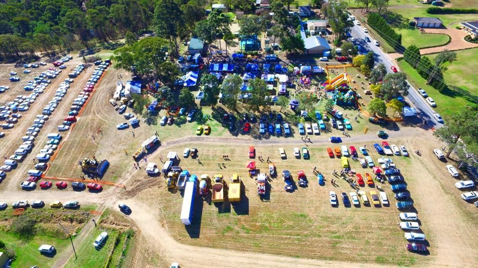 Bird's eye view of the Maroota Muster in 2016.